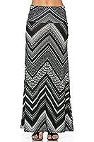 Azules Women's Poly Span Multiple Selection Print Maxi Skirt