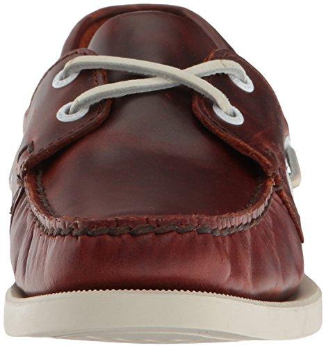 Mocassini Donna Brown Docksides Oiled Leather Waxy B4131 Sebago EqFzx