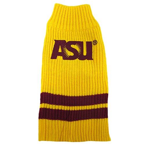 Arizona State University Knitted Turtleneck Pet Sweater (Medium: 14