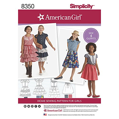 Patterns 3 Sewing - Simplicity 8350 American Girl Child's Dress (SIZE 3-8) SEWING PATTERN