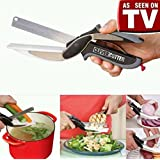 Clever Cutter 2-in-1 Food Chopper Kitchen Knife and Cutting Board Food Choppers Vegetable Slicer