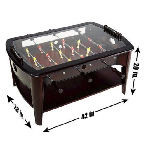 Amazoncom Foosball Coffee Game Wood 42 Table Tempered Glass Top