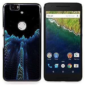 For Huawei Nexus 6P - Dark City Towers Abstract Dise???¡Ào Protecci????n Cubierta de la caja ultra delgada de Snap de pl????stico duroco duro - God Garden -