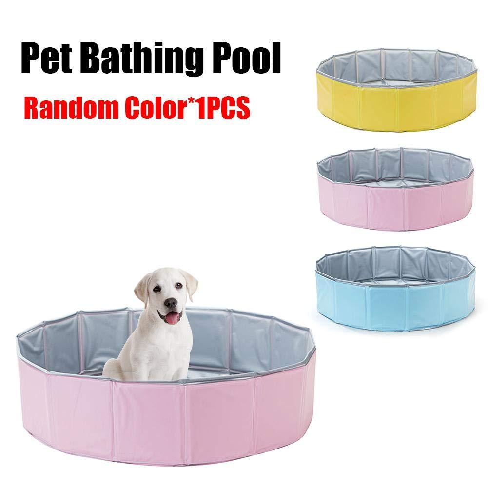 Collapsible Pet Bath Pool, Outdoor Dog Cat Bathing Swimming Tub, Water Pond Pool & Kiddie Bathtub