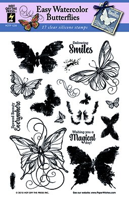 Clear Silicone Stamp Set by Hot Off The Press | Scrapbooking, Card Making, Gifts and Home Décor - Inspiration at Your Finger Tips (Easy Watercolor ()