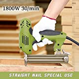 220V 1800W Electric Staple Straight Nail Gun 10-30mm Special Use 30/min Woodworking Tool