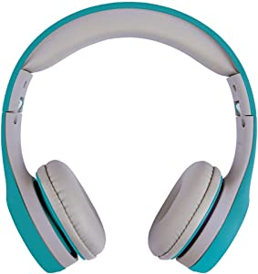 ATIVA Junior On-Ear Wired Headphones, Teal/Gray, WD-LG01-GREEN