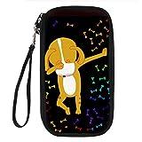 STARTERY Cute Hip-Hop Animal Pattern Durable Travel Wallet Passport Holder Handbag, dog
