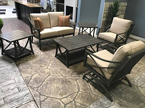 AGIO DAVENPORT 6 PIECE PATIO CONVERSATION SET (Furniture Agio Wicker)