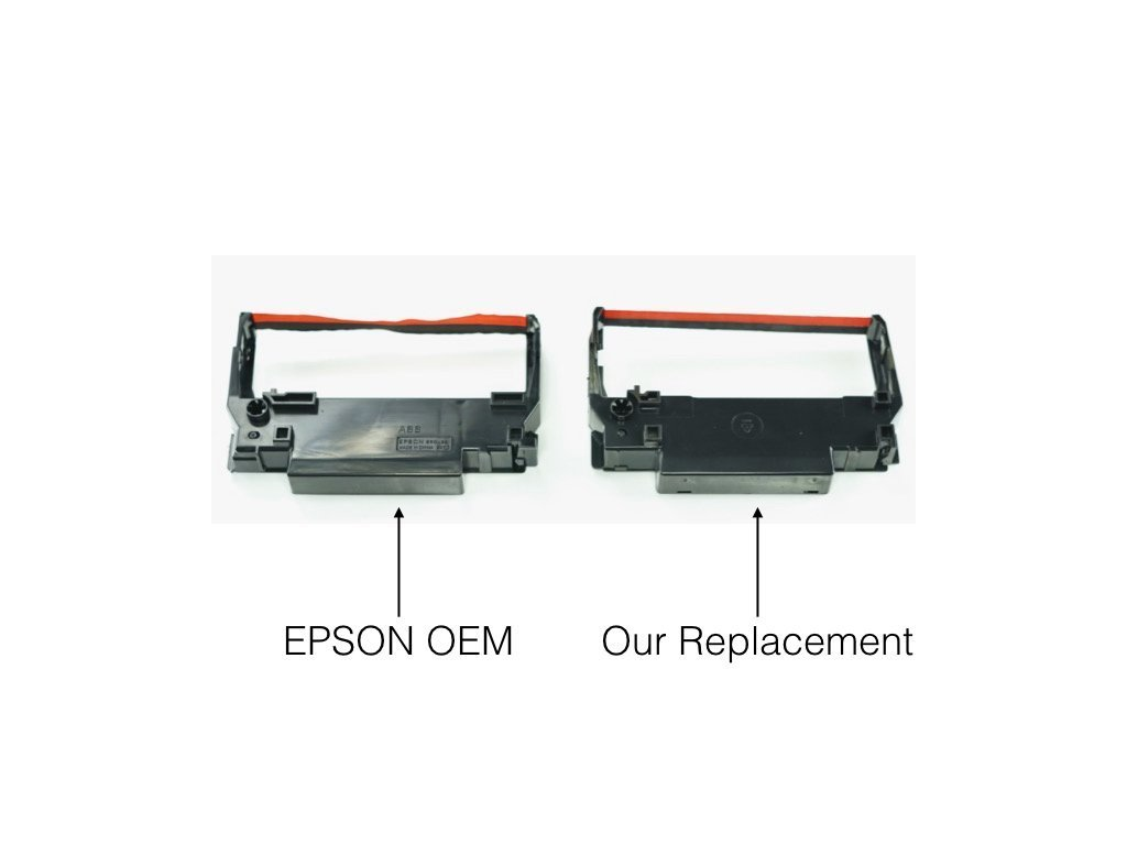 GRC E238-BR compatible ink ribbon replacement for ERC 30/34/38 black and red, Porelon BR506, Dataproducts E2117 (144-pack) by Monroe Systems for Business (Image #1)