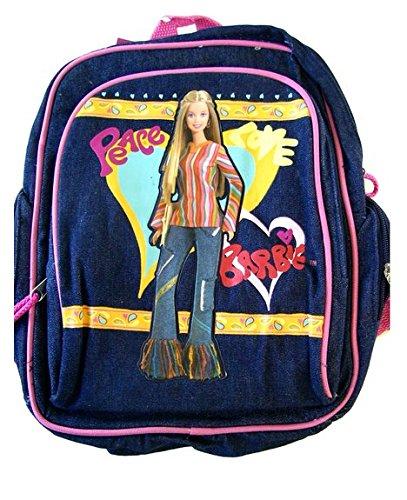 Small Backpack - Barbie - w/ Water Bottle - Denim Blue New School Bag 15985-2   B009BBS7X6