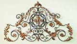 Lavish Gold IRON SCROLL Wall Plaque | Overdoor Palace Baroque Metal