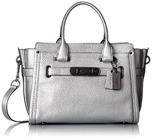 Pebbled Leather Coach Swagger Satchel product image