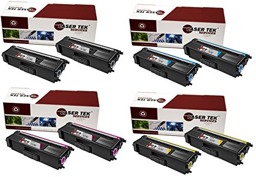 (Laser Tek Services Compatible Toner Cartridge Replacements for High Yield Brother TN339 TN339BK, TN339C, TN339M, TN339Y (2 Black, 2 Cyan, 2 Magenta, 2 Yellow, 8-Pack))