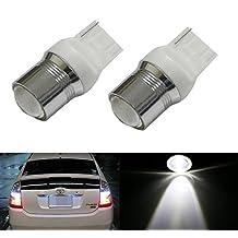 iJDMTOY (2) Xenon White High Power 7440 7444 LED Backup Reverse Light Bulbs Powerd By 5W CREE XP-E