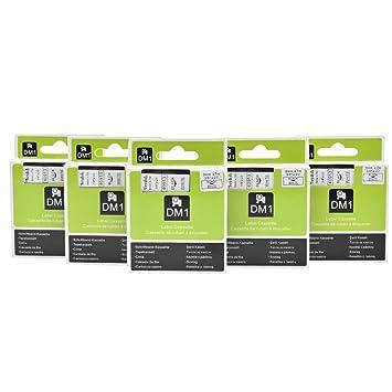 Farbband Etikette Schwarz auf Weiß für Dymo D1 40913 LabelManager 150 210D
