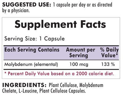 Amazon.com: Molibdeno Cápsulas de 100 mcg – Hypo: Health ...
