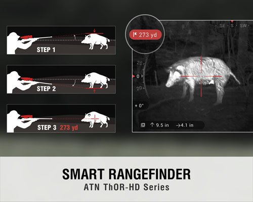 ATN ThOR HD 384 Smart Thermal Riflescope - Smart Rangefinder