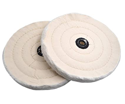 Stupendous Wokise 2Pcs 8 50 Ply Extra Thick Round Polish Buffing Wheel Cotton Pad For Bench Grinder Tool Cotton 8 50Ply Ocoug Best Dining Table And Chair Ideas Images Ocougorg