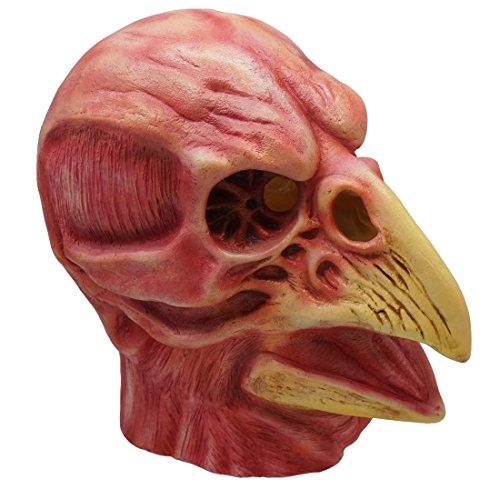 Hongzhi Craft Bloody Skeleton Beak Doctor Mask Cosplay Costume Halloween Party Prop