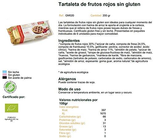 Tartaleta de frutos rojos sin gluten BIO - Germinal - 200g: Amazon.es: Alimentación y bebidas