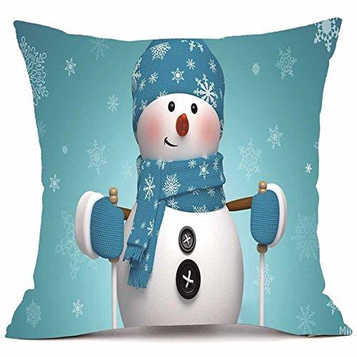 Merry Christmas Pillow Cases Super Soft Cashmere Sofa
