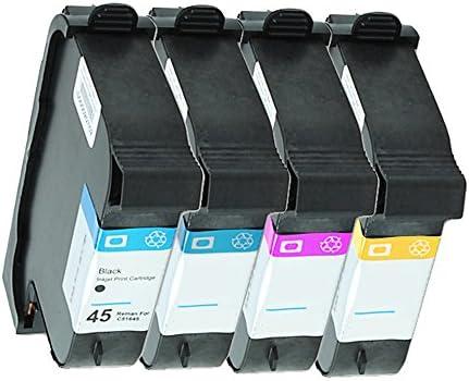 4 cartuchos de tinta para HP Designjet 750C Deskjet 750 Deskjet 755C sustituyen a HP45 y HP44: Amazon.es: Oficina y papelería