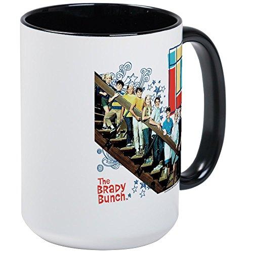 (CafePress The Brady Bunch: Staircase Image Large Mug Coffee Mug, Large 15 oz. White Coffee Cup)