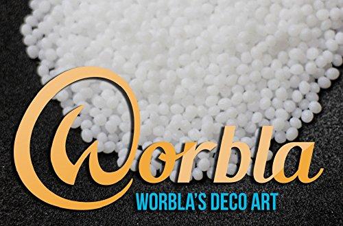 Worbla Deco Art - WHITE Moldable Thermoplastic Pellets 4.4 oz COPLAY friendly plastic (Worbla Costumes)
