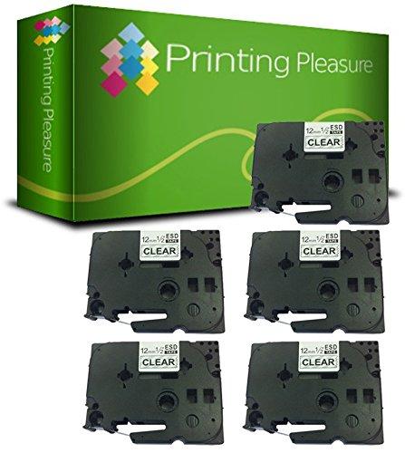 84 opinioni per Printing Pleasure 5 x TZe-131 TZ-131 Nero su Trasparente Nastro laminato