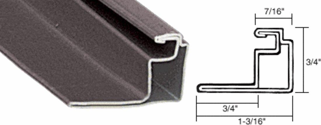CRL Bronze 3/4'' Roll Formed Aluminum Standoff Screen Frame - 144''