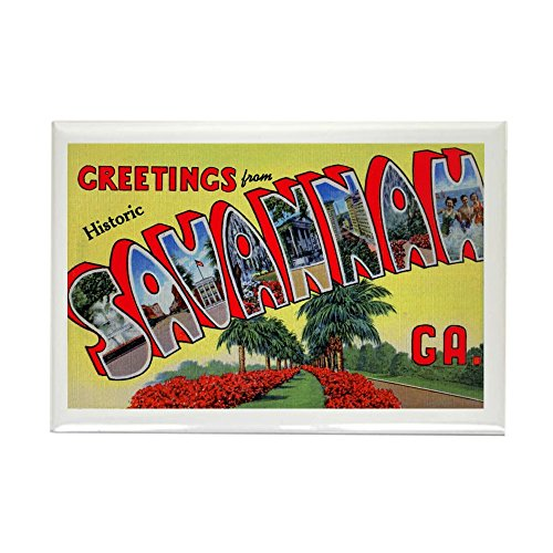 CafePress - Savannah Georgia Greetings Rectangle Magnet - Rectangle Magnet, 2