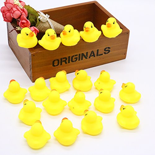 IDS Pack of 20 Baby Kids Squeaky Rubber Duck Duckie Baby Shower Water Birthday Favors Gift by ()