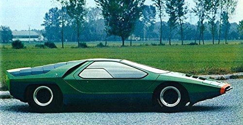 Amazon Com 1969 Alfa Romeo 33 Carabo Bertone Concept Factory Photo