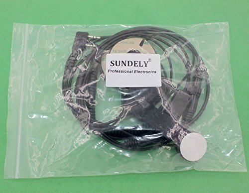 SUNDELY® Full Face Close Motorcycle Helmet Headset/Earpiece For Baofeng Radio Walkie Talkie 2 Pin Jack