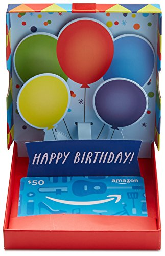 Amazon 50 Gift Card In A Birthday Pop Up Box