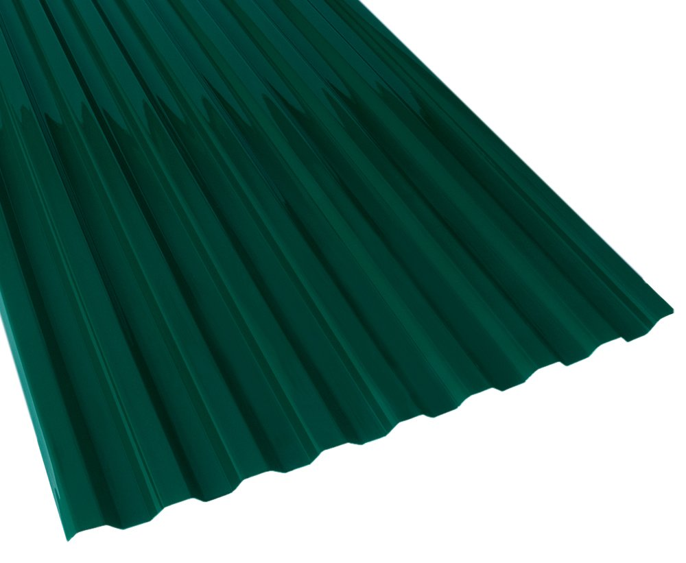 Suntuf 159858 Polycarbonate Roof Panel, 72'' L x 26'' W, Hunter Green, 10 Piece