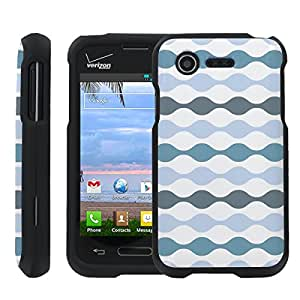 [ManiaGear] Design Graphic Image Shell Cover Hard Case (Air Wave Blue) for LG Optimus Zone 2 VS415P / LG Optimus Fuel L34C
