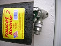 FaucetBeanie-2 Outdoor Faucet Cover - NO Hooks, Bands or Straps! USA Made