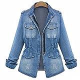 SUSIELADY Women's Denim Jacket Casual Slim Fit Long Sleeve Loose Trucker Coat Outerwear Top Jeans Outercoat Windbreaker