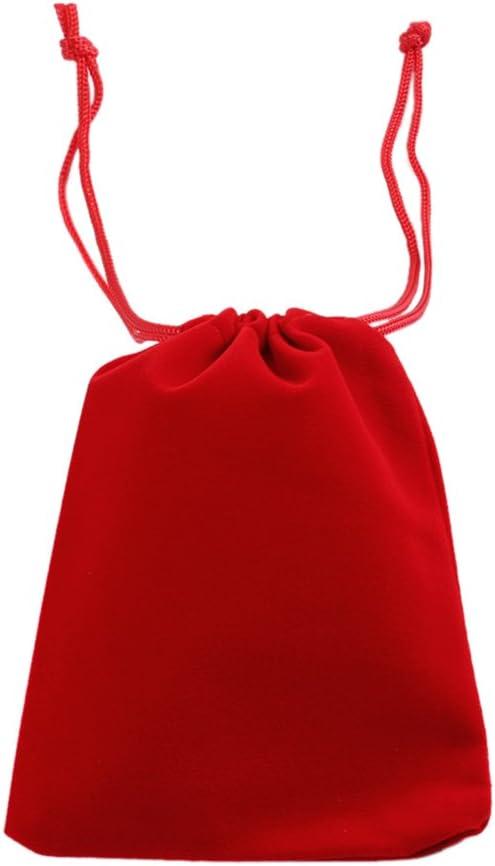 Haodou Cord/ón Terciopelo Joyer/ía Bolsa de Regalo Bolsa Favor de La Boda Rojo Franela Bolsa Bolsas de Regalo Bolsas de Almacenamiento Size 12 9CM