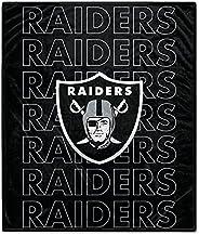 Pegasus Sports NFL Echo Team Wordmark Plush Blanket- Las Vegas Raiders