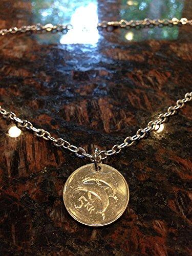 Iceland 5 Kronur coin necklace