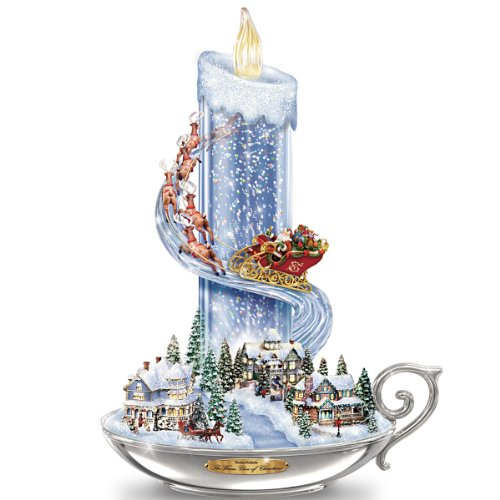 The Bradford Exchange Table Centerpiece Thomas Kinkade Warm Glow of Christmas Table Centerpiece