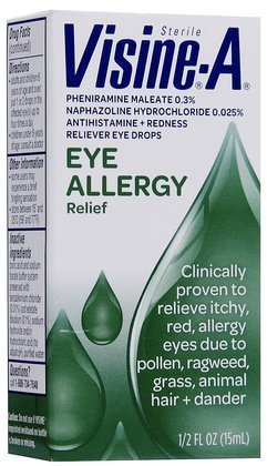 (Visine -A Eye Allergy Relief, Antihistamine & Redness Reliever Eye Drops (Quantity 1) )