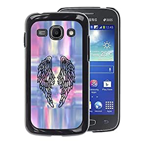 A-type Arte & diseño plástico duro Fundas Cover Cubre Hard Case Cover para Samsung Galaxy Ace 3 (Angel Wings Art Tattoo Painting)