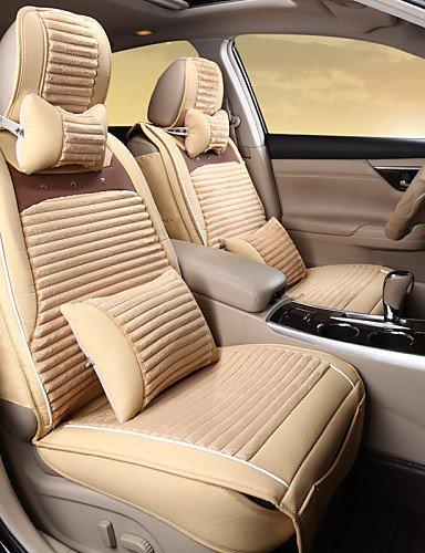 Plush Upholstery (ANDP Car Upholstery Leather Plush Winter Warm Wool Pad Seat Cover Rear Universal 125-133-140 Cm ,)