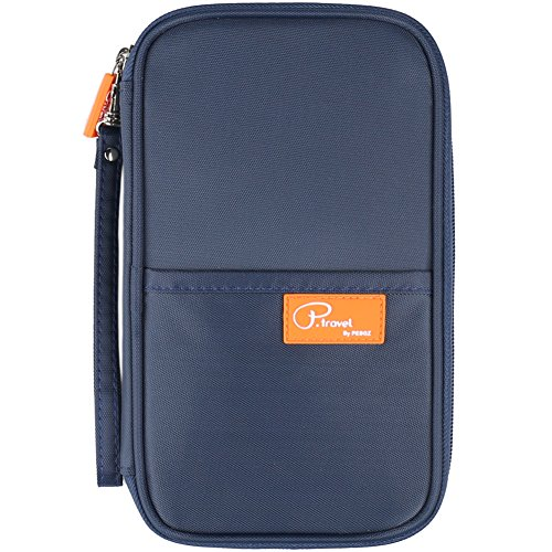 Travel Document Wallet With Hand Strap (Blue) - 1