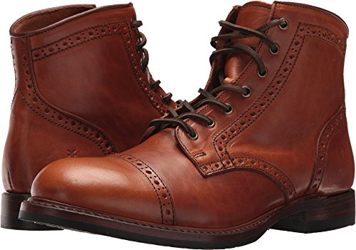 Frye Mens Logan Brogue Cap Teen Combat Boot Zadel Vintage Pull-up