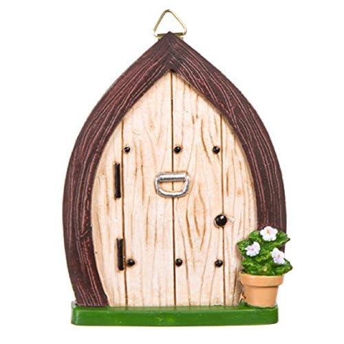 Darice 30007598 Garden Fairy Door with Knocker and Hanging